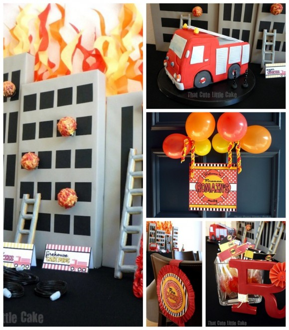 The way to Toss a Fire Truck Themed Party - Tri State fire